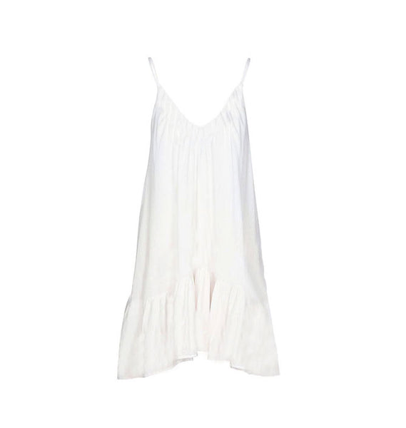 St. Tropez Mini Dress Coverup in White