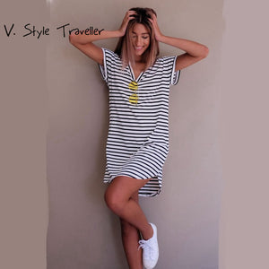 V. Style Traveller Striped Dress