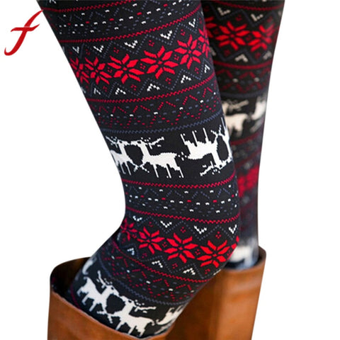 Feitong Christmas Leggings Women