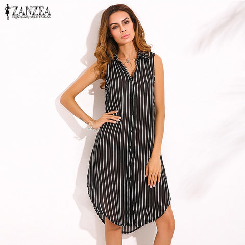 Zanzea Stripe Print Dress