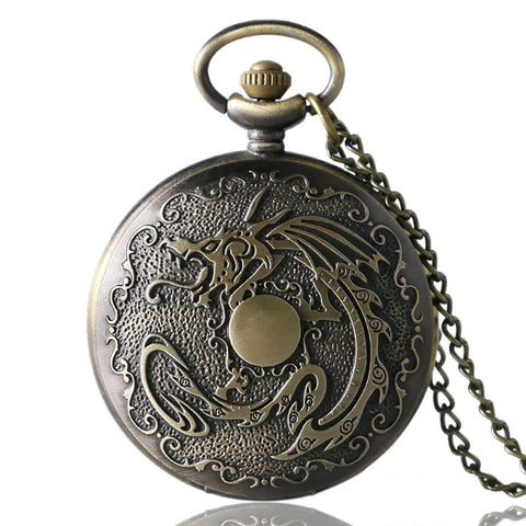 Steampunk Pocket Watch Evil Dragon