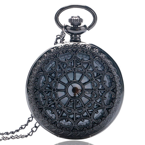 Vintage Pocket Watch Black Spider Web
