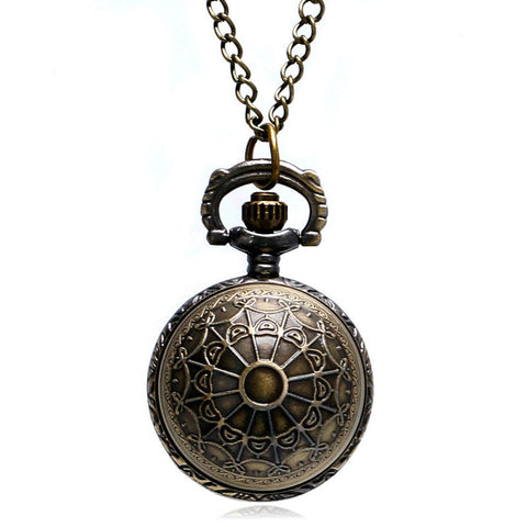 Men's Pocket Watch, Retro Spider Ball Shape Necklace Pendant Quartz Pocket Watch, Gift for Men