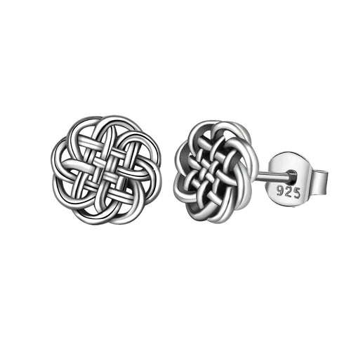 EUDORA 925 Sterling Silver Earring Celtic Knot