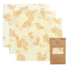 3 pack of large reusable beeswax food wrap