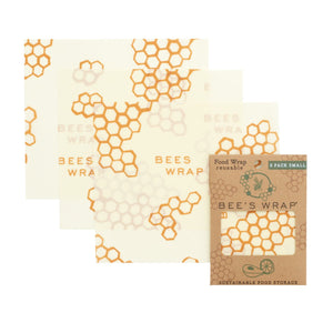 3 pack of small reusable beeswax food wraps