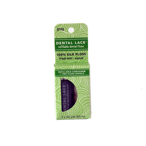 Gray Silk Refillable Dental Floss
