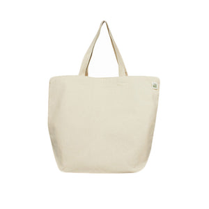 "19""W x 15.5""H Recycled cotton tote bag"