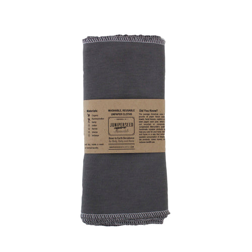 Organic bamboo and cotton facial cloth and handkerchief