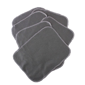 6 Organic bamboo and cotton facial cloths