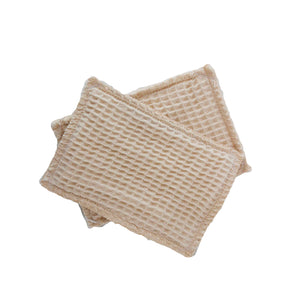 2 pack of reusable bamboo kitchen sponges