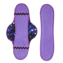 Reusable organic long menstrual pad & insert in cosmic dancer design
