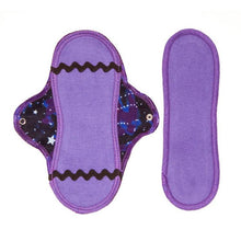 Reusable Organic Mini Menstrual Pad and insert in Cosmic Dancer design
