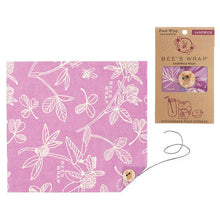 Reusable beeswax lunch wrap with string tie closure