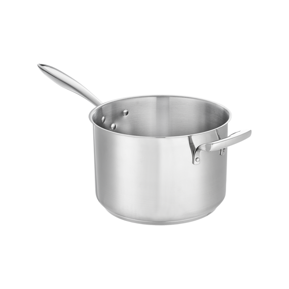 Stainless Steel Deep Sauce Pan with Helper Handle