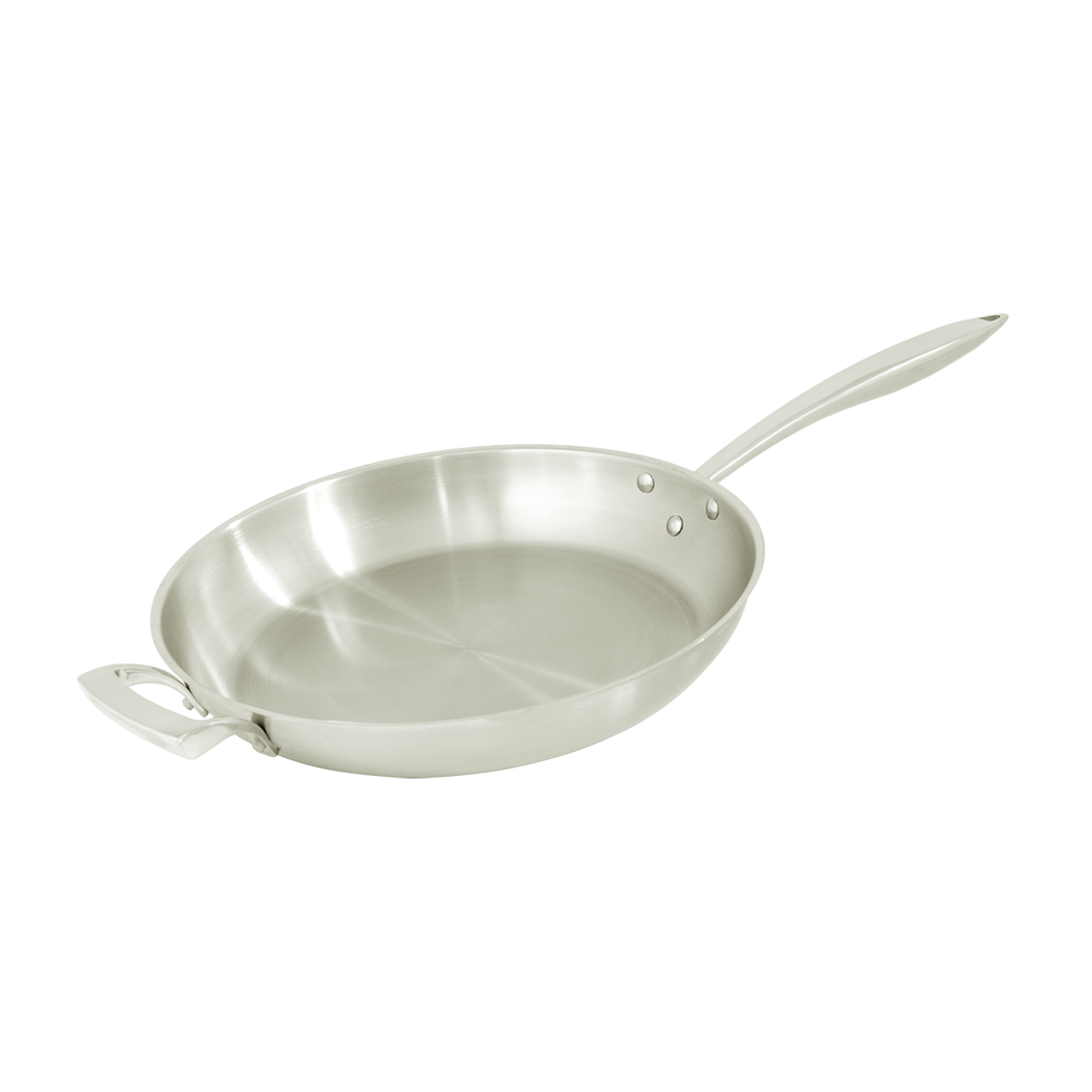 Stainless Steel Deluxe Fry Pan with Helper Handle