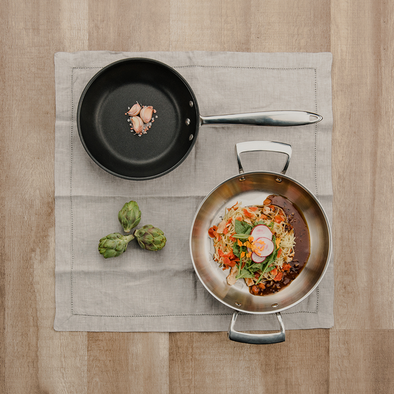 Stainless Steel Deluxe Non-stick  Fry Pan