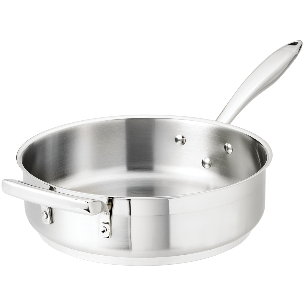 Stainless Steel Saute Pan with Helper Handle