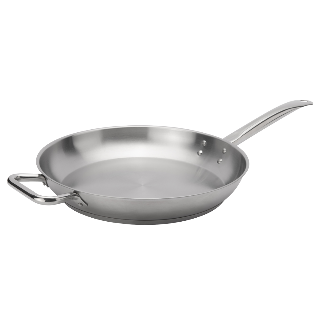 Stainless Steel Fry Pan with Helper Handle