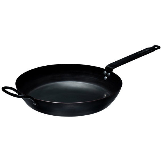 Carbon Steel Fry Pan with Helper Handle