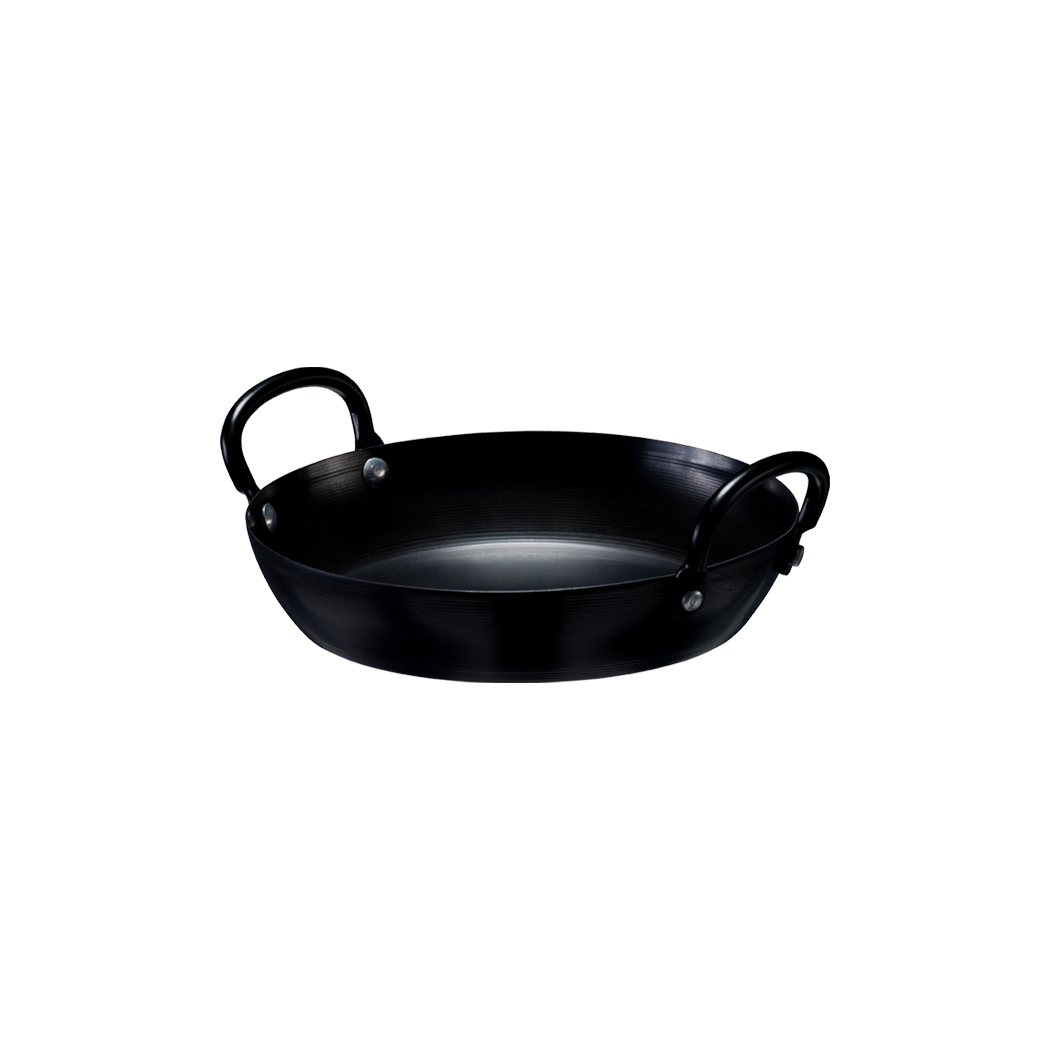 Carbon Steel 2-Handle Fry Pan