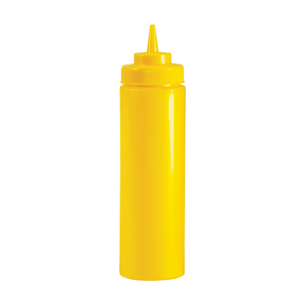 Wide Mouth Squeeze Dispenser, Yellow