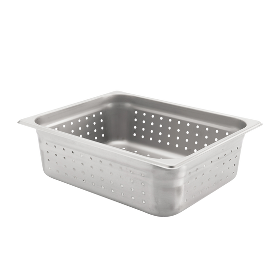 "Half size, Perforated Steam Pan, 4"" deep"