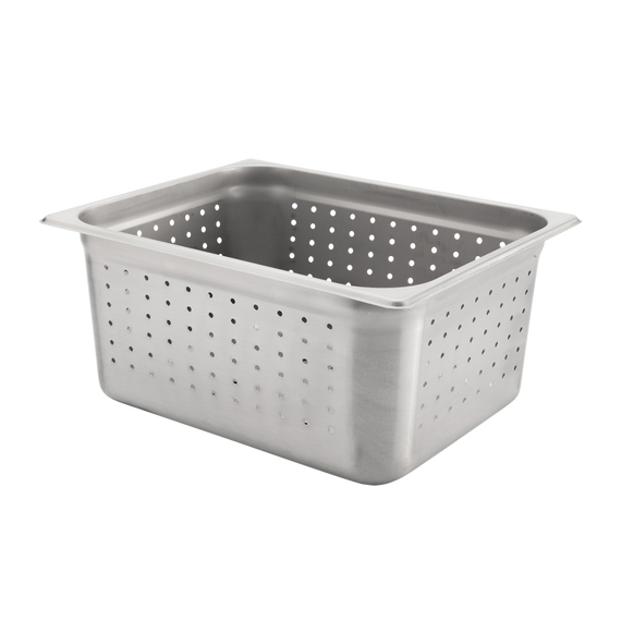 "Half size, Perforated Steam Pan, 6"" deep"