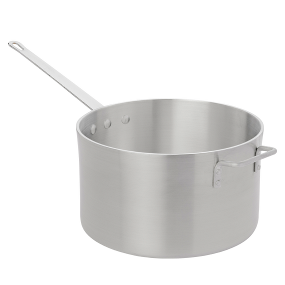 Heavy Weight Straight-Sided Sauce Pan with Helper Handle
