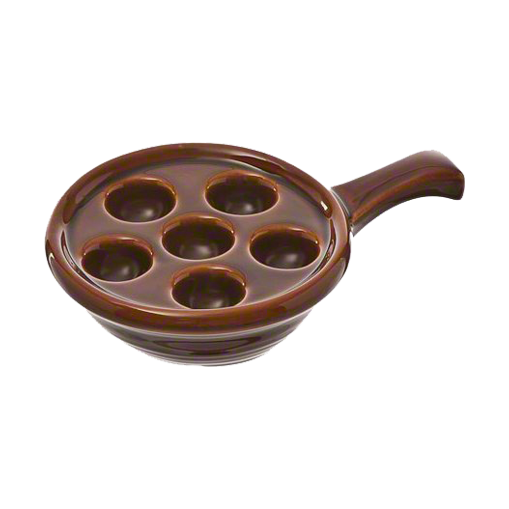 Escargot Plate with Handle