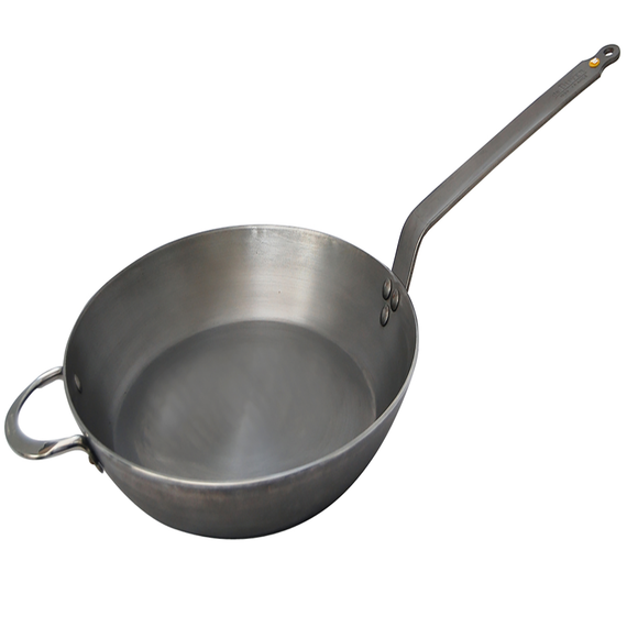 Mineral B Element Round Frypan with Helper Handle