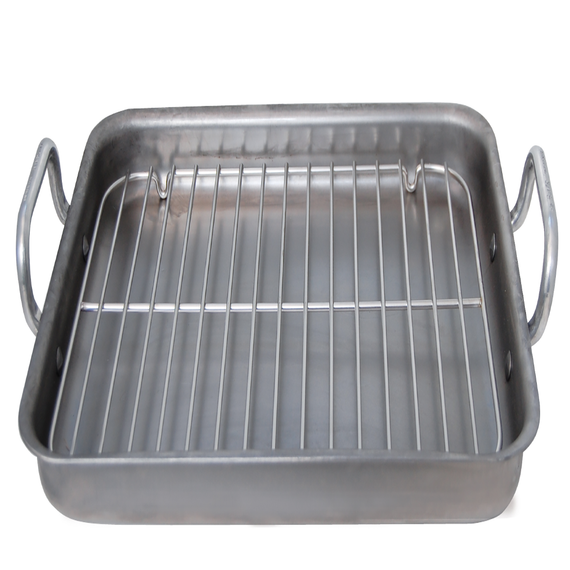 Mineral B Element Steel Roasting Pan with Stainless Steel Grid