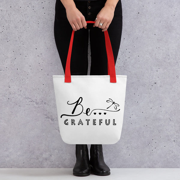 Be... Grateful Tote Bag - The Be Line Products