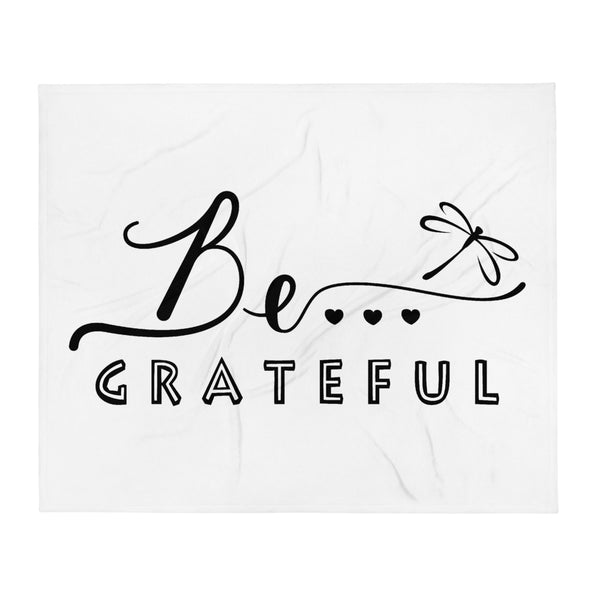 Be...Grateful Throw Blanket - The Be Line Products