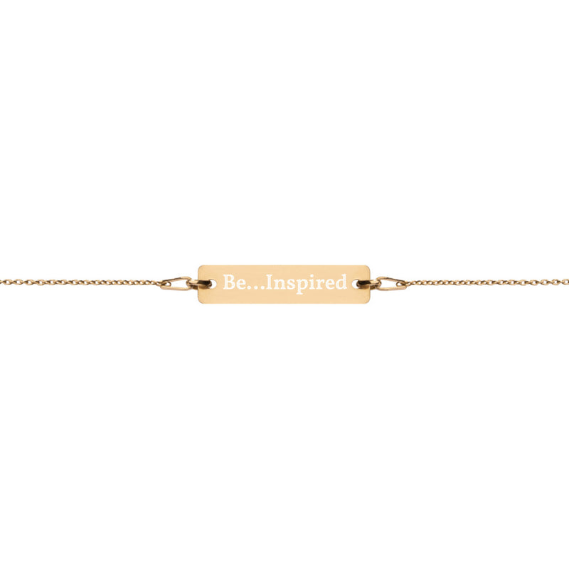 Be...Inspired Engraved Bar Chain Bracelet - The Be Line Products