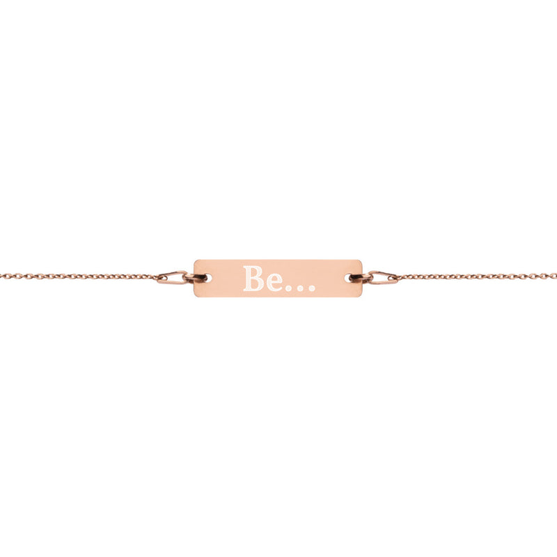 Be... Engraved Bar Chain Bracelet - The Be Line Products