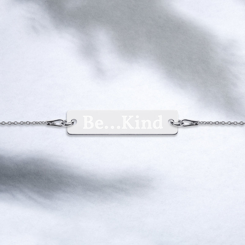 Be...Kind Engraved Bar Chain Bracelet - The Be Line Products