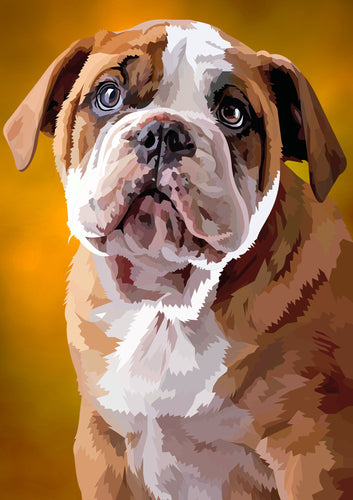 Engelse Bulldog | Exclusieve Diamond Painting