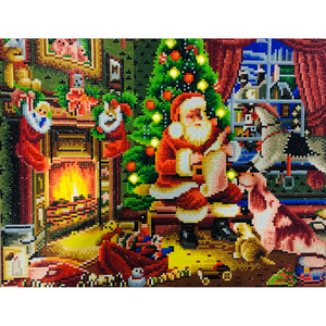 Kerstman LED | Diamond Painting