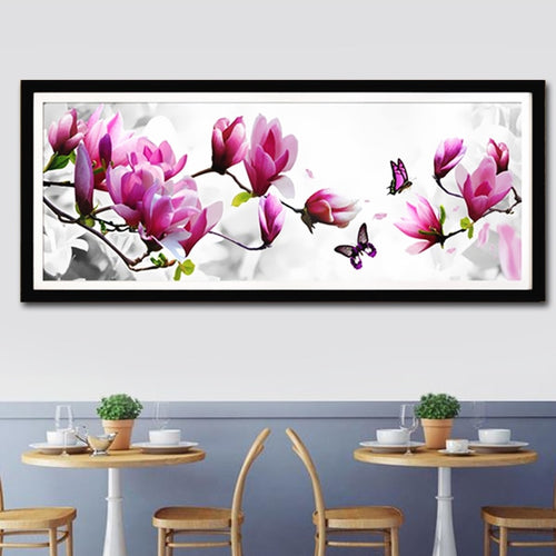 Magnolia - Vlinders XL | Diamond Painting - Myth Of Asia