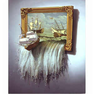Zeilschip 3D | Diamond Painting