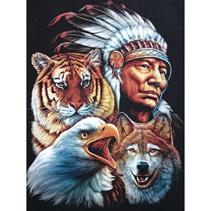 Indiaan - Dieren | Diamond Painting