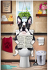 Franse Bulldog Op Toilet | Diamond Painting