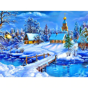 Winterlandschap | Diamond Painting