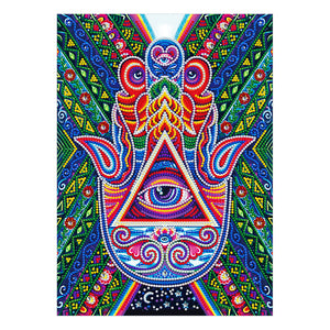 Hamsa Hand Glow In The Dark | Diamond Painting