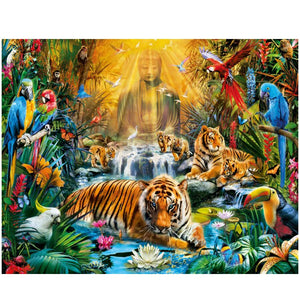 Boeddha - Dieren | Diamond Painting
