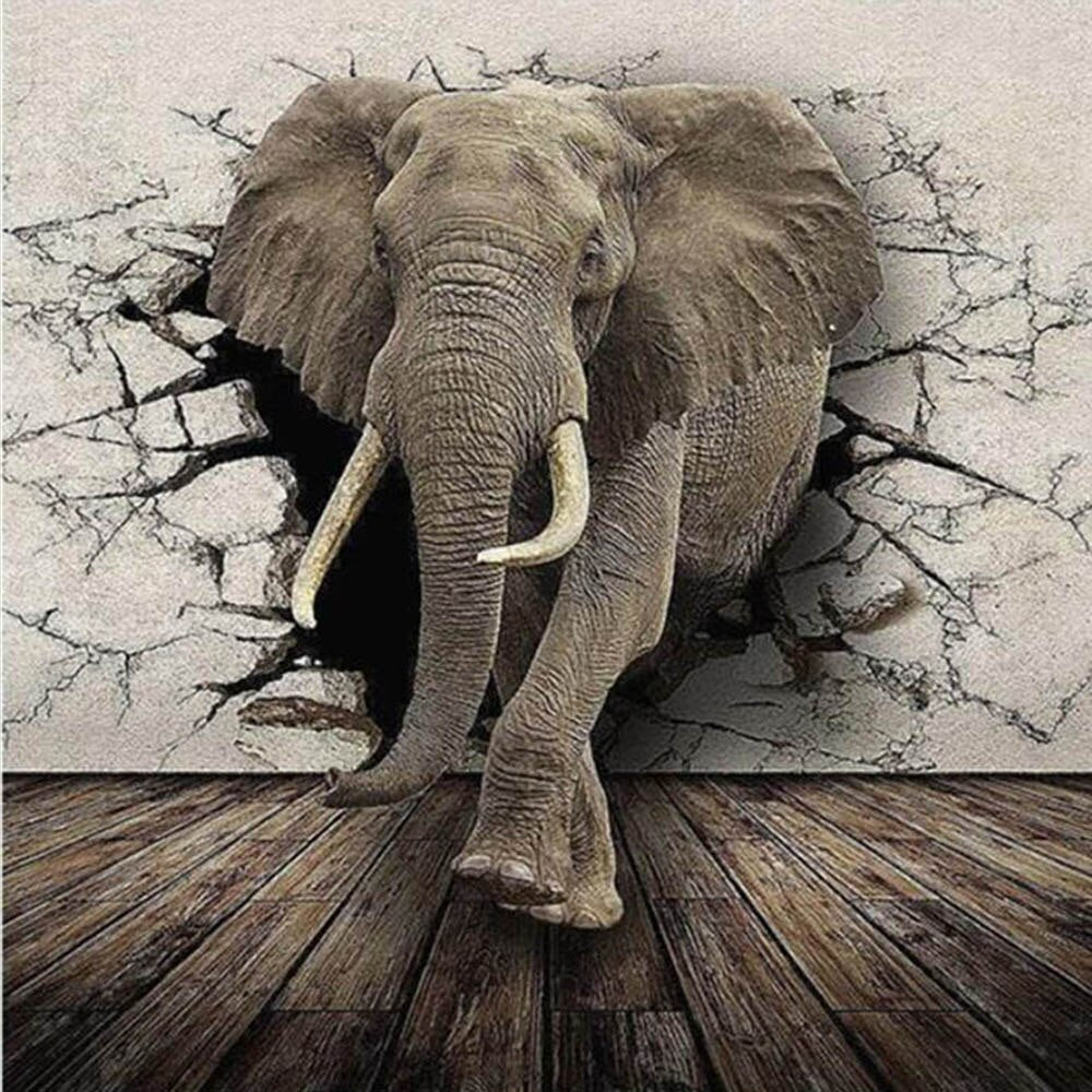 Olifant 3D | Diamond Painting