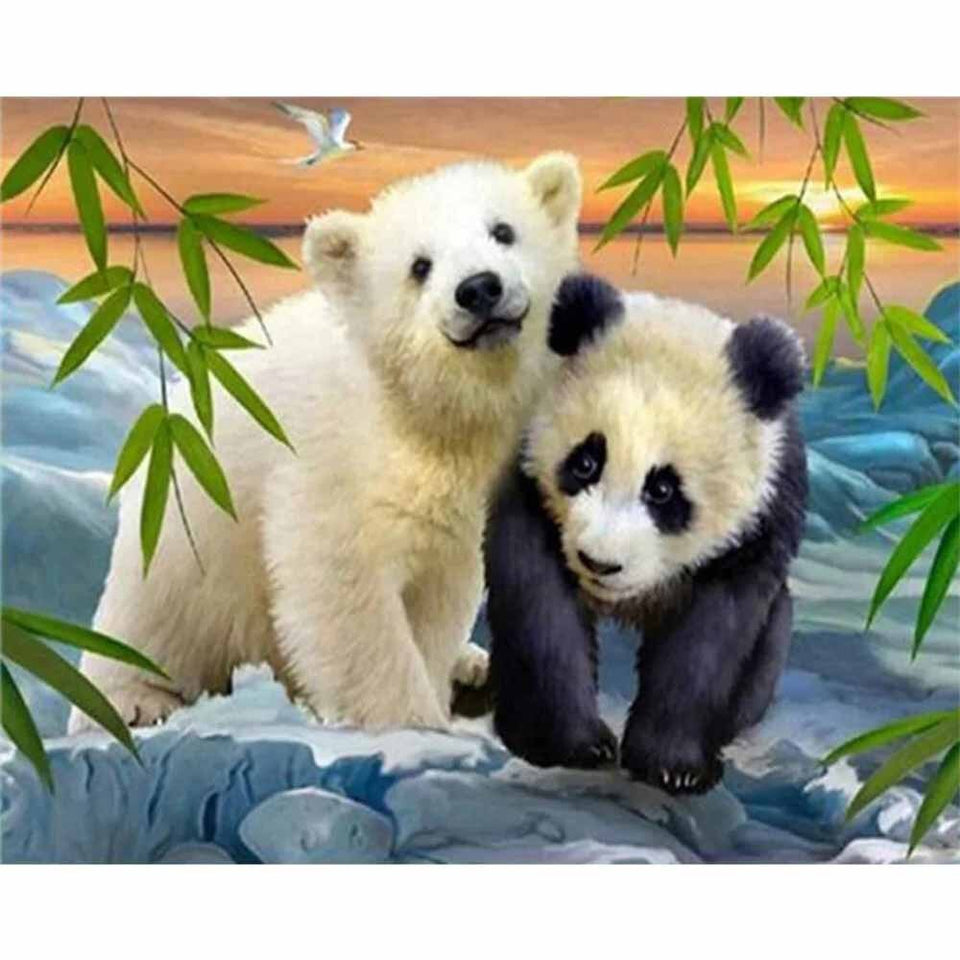 IJsbeer & Panda | Diamond Painting