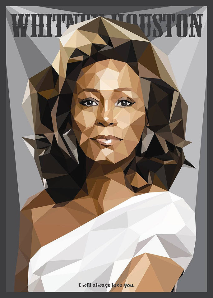 Whitney Houston Abstract | Diamond Painting