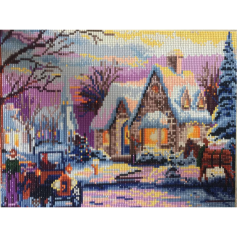 Winterlandschap LED | Diamond Painting